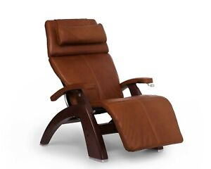 Human Touch Cognac Leather PC-420 Classic Plus Zero Gravity Perfect Chair