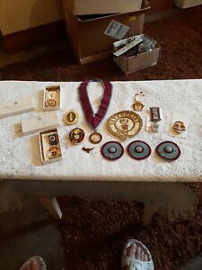 Large Job Lot / Collection Vintage Masonic Medals / Jewels Stewards Devonshire