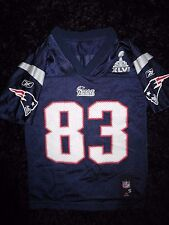 New England Patriots #83 Welker Super Bowl NFL reebok Jersey Youth S 6-8