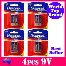 4pcs 9V Smoke Alarm Battery Super Heavy Duty PairDeer 6R61 New Stock