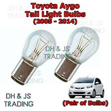 Toyota Aygo Tail Light Bulbs Pair of Rear Tail Light Bulb Lights MK1 (05-14)