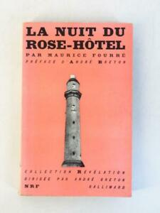 Rare ANDRE BRETON MAURICE FOURRE LA NUIT DU ROSE HOTEL 1950 Paris Montparnasse
