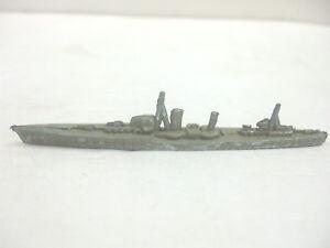 "Vintage Crescent Toy Soldiers - Metal Navy Destoyer 3 1/2"" Long - Very NICE"