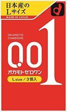 H&B Okamoto Condom L Ultra Thin 001 0.01 Zero One Thinnest 3pcs 1 box Large SB