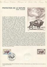 FRANCE CEF 1974 BISON WISENT ERSTTAGSBLATT SAMMELBLATT DOCUMENT z1525
