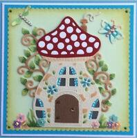 Stanzschablone Pilze Haus Schmetterling Weihnachts Hochzeit Geburtstag Karte DIY