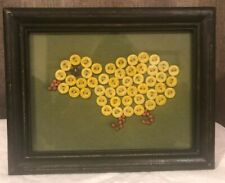 """Primitives By Kathy EASTER 8 1/2"""" Resin CHICK BUTTON SAMPLER / WALL DECOR -13437"""
