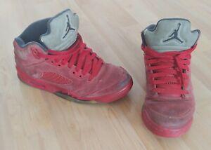 Air JORDAN Boys Basketball Sneakers  Size US 5Y Red