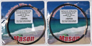 2 MASON SSBRO-10 SINGLE STRAND S.S. 124 LB LEADER WIRE
