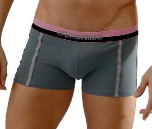 GERONIMO Underwear Mens Boxer Micro Grey Black Blue Hipster Stretch