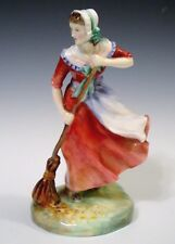 Royal Doulton Porcelain Figurine HN2087 *Autumn* Lady Sweeping - Red Dress