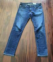 AG Adriano The Matchbox Slim Straight Blue Jeans Men's 34 Waist 31 Inseam