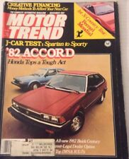 Motor Trend Magazine Honda Accord J-Car Test November 1981 080217nonrh