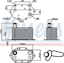 NISSENS Engine Oil Cooler - 90905 (NEXT WORKING DAY DELIVERY TO UK)