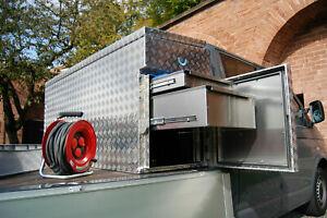 Pritschenbox Werkzeugkiste Fahrzeugbox Vollausstattung Schubladen 980 Liter TOP