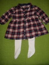 2 tgl süße Baby Kleidung Kleidchen und strumpfhose Gr3/6 Monate 68 cm H&M