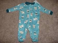 Gymboree Newborn Baby Boys Snow Bear Pajamas Sleeper Size NB 5-9 lbs NWT NEW