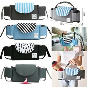 Baby Stroller Organiser Storage Bag Pram Pushchair Bottle Cup Holder Mummy Bag
