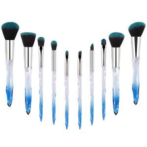 10Pcs Makeup Brushes Powder Foundation Brush Kabuki Makeup Brush Navy Blue Brush