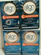 (4) Align Probiotic Restorative Sleep ~ 84 Capsules. EXP 6/2021  a28