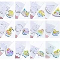 Key Chain Charms Mold Kawaii Strawberry Shaker Silicone Epoxy DIY Resin NEW T5E9