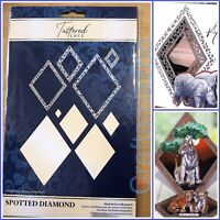Tattered Lace Spotted Diamond Metal Cutting Die, Safari Frame, Africa - 701285