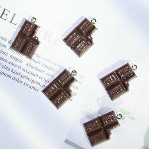 10pcs/pack Milk Chocolate Resin Charms 17*24mm Chocolates Charm Pendants Jewelry