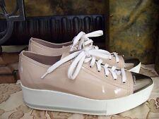 Authentic MIU MIU Metal Cap Toe Platform Sneaker Size 36.5 $595.00