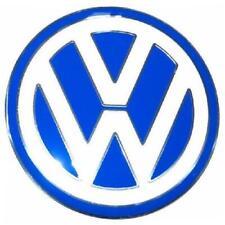 1 Stück orig. VW Radkappen Ersatz Aluminium Emblem Logo ø 90mm blau Beetle neu