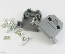 100sets Grey D-Sub DB15 15Pin Plastic Hood Cover for 15Pin 2Row D-Sub Connector