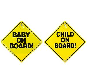 Child/Baby On Board Sign w/ Suction Cup