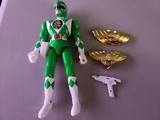 "MMPR Mighty Morphin Power Rangers 8"" Green Action Figure Blaster Gun Shield"