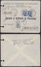 Belgium 1910 Postage Due stamp on Taxed mail from PIOVE DI SACCO Italy.....A4071