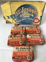 St. Joseph Aspirin Display box 5 10 cent tins drugs medicine