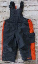 Pacifictrail Outdoor Wear Kids Snow pants Bibs Black & Orange Size 24 months 2T