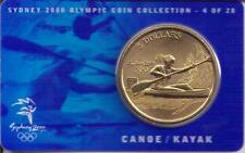 2000 $5 RAM UNC Coin Sydney Olympic coin collection- 4 of 28(Canoe/Kayak)+ cover