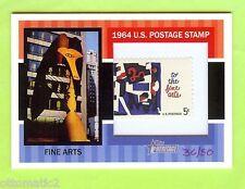2013 TOPPS HERITAGE 1964 POSTAGE STAMP-FINE ARTS #36/50 RARE