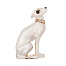 White Dog Alloy Brooches Shirt Collar Badge Enamel Brooch Pin Clothes Decor