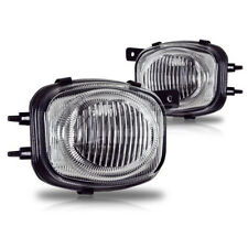 For 2000-2002 Mitsubishi Eclipse Chrome Housing Clear Lens ABS Fog Lights Lamps