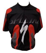 Spacialized Men's Black Mix Short Sleeve Zip Front Cycling Jersey - Size XXXL