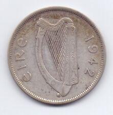 1942 Irish Silver Half-Crown Coin Scarce Leat Coroin Ireland