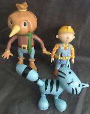 "Bob The Builder 3""- 4"" Figures x3 ~ Bob, Spud & Pilchard"