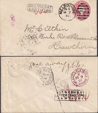1893 VICTORIA AUSTRALIA HAWTHORN UNCLAIMED Gone away D.L.O. MELBOURNE