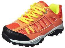 New Boys Hiking Sneakers Orange/Black/Yellow/Neon Green Size 4