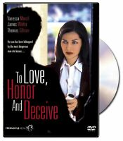 To Love, Honor And Deceive (DVD, 2007) Vanessa Marcil, James Wilder, New