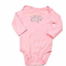 Carters Just One You 9M Silver Glitter Shine Bright on Pink One Piece Baby 9 M
