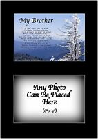 My Brother Poem Personalised with ANY PHOTO Birthday Fathers Day Christmas Gift