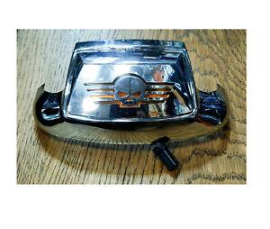 59651-01 punta decorazione parafango anteriore cromato lente con teschio Harley
