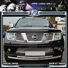 NISSAN NAVARA PATHFINDER D40 CITY BULL BAR CHROME DOUBLE LINE BARS 2005-2010 NEW
