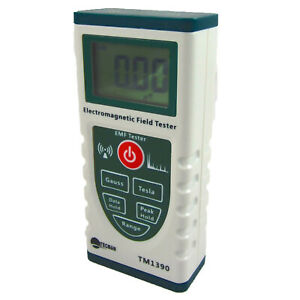 Electromagnetic Radiation Detector Meter EMF Field Tester Gauss Tesla TM1390